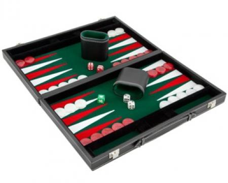 Set joc table Backgammon Casino Mediu 45x57 cm de la Chess Events Srl