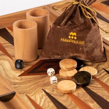 Set joc table/backgammon Maslin 48 x 60 cm de la Chess Events Srl