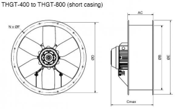 Ventilator 4 poli THGT4-560-6/-0,55
