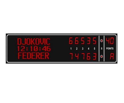 Tabela electronica pentru tenis 5 seturi si nume jucatori