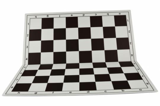 Tabla de sah pliabila PVC (alb-maro) 57 mm de la Chess Events Srl