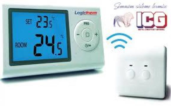 Termostat de ambient programabil Logictherm R7RF wireless de la ICG Center
