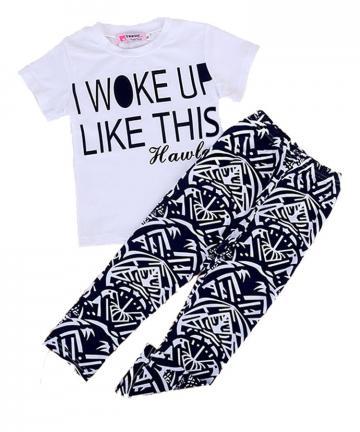 Set tricou si leggings pentru fetite