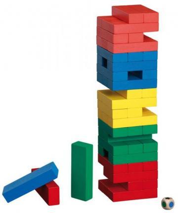 Joc de indemanare Tumbling Tower in culori de la Chess Events Srl