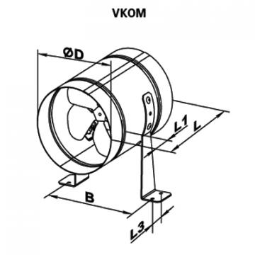 Ventilator axial VKOM 200