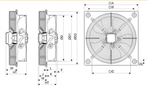 Ventilator axial HXBR/6-630