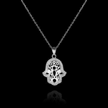 Colier din argint Hamsa - Mana lui Fatima de la Luxury Concepts Srl