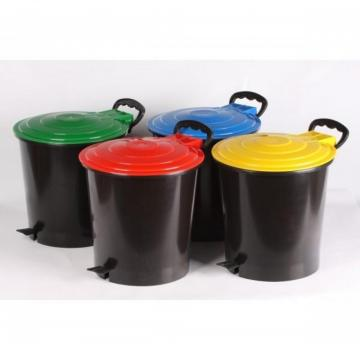 Cos gunoi cu pedala Ergo - 10 litri de la Sanito Distribution Srl