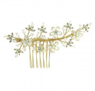 Diadema aurie cu cristale Swarovski de la Luxury Concepts Srl