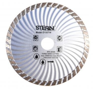 Disc diamantat taiere umeda si uscata Stern 150 mm de la Micul Gospodar