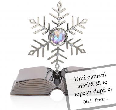 Cadou Fulg de nea Citate motivationale cu cristale Swarovski de la Luxury Concepts Srl