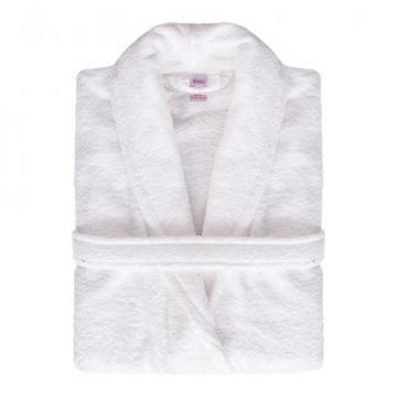 Halat de baie, pentru hotel, 100% bumbac, culoare alb de la Sanito Distribution Srl