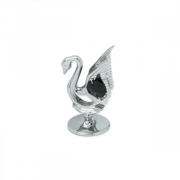 Decoratiune Lebada cu cristal Swarovski negru