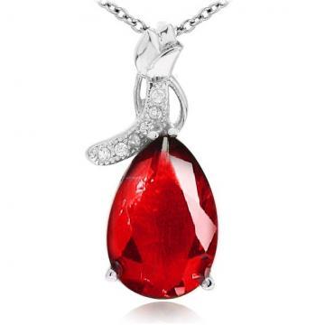 Martisor pandantiv din argint 925 Ruby Drop de la Luxury Concepts Srl