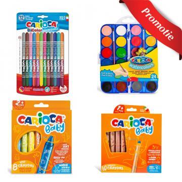Carioci, creioane cerate, creioane color si acuarele