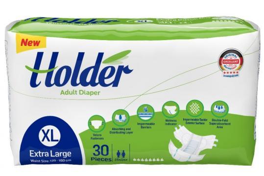 Scutece adulti Marca Holder, Marimea XL - XLarge, 120 buc/se de la Europe One Dream Trend Srl