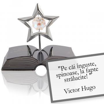 Figurina decor Victor Hugo despre curaj - Citat Swarovski