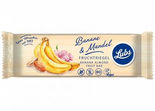 Baton cu banane si migdale - 40 grame
