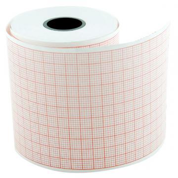 Hartie EKG (ECG) caroiaj rosu, 50 mm x 20 m (5 role) de la Sirius Distribution Srl