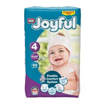 Scutece copii Joyful, 180 buc/set, Marime 4, Maxi, 7-18kg de la Europe One Dream Trend Srl