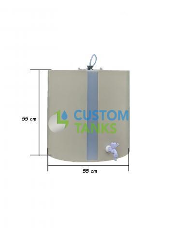 Butoi polipropilena orizontal 200 litri de la Custom Tanks Srl