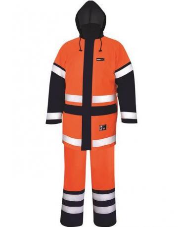 Costum impermeabil reflectorizant Aqua portocaliu - Ardon de la Mabo Invest