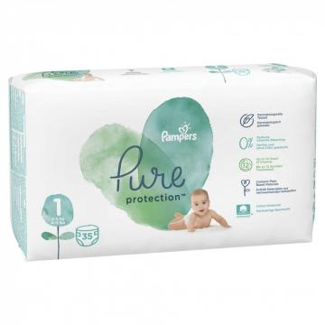 Scutece Pampers Pure Protection 2-5kg Junior 5 (35buc)