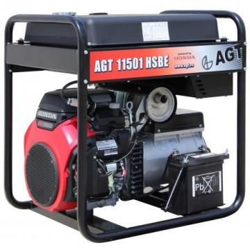 Generator de curent monofazat AGT 11501 HSBE, motor Honda