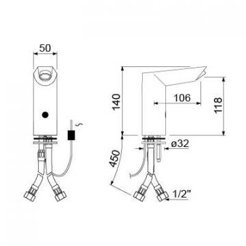 Baterie cu senzor 230VAC