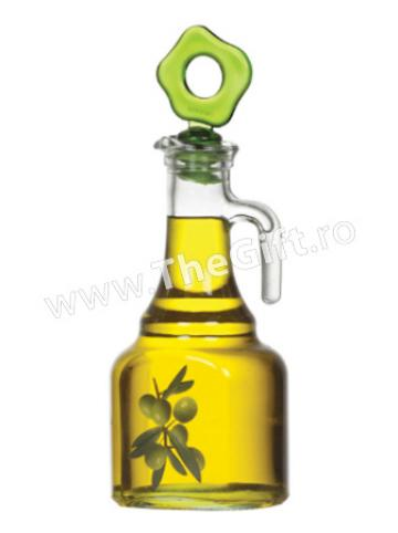 Dispenser din sticla pentru ulei sau otet