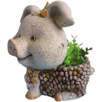 Ghiveci decorativ Strend Pro Pig, ceramica, 32 x 25 x 34 cm de la Viva Metal Decor Srl