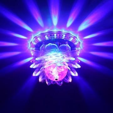 Lampa rotativa multicolora RGB Sunflower LED