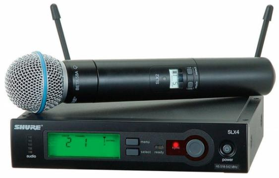 Microfon wireless 58A / SLX 24 Shure Beta de la Www.oferteshop.ro - Cadouri Online