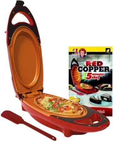 Mini tigaie electrica pentru gatit rapid Red Copper 5 minute