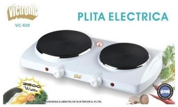 Plita electrica dubla Victronic VC520, 2500W