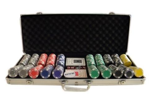 Set Poker 500 jetoane - servieta aluminiu