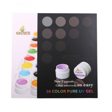Set geluri color unghii GDCoco 36 culori Pure Series de la Preturi Rezonabile