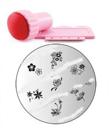 Set pentru decorarea unghiilor stamping nail art de la Preturi Rezonabile