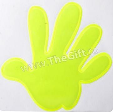 Sticker reflectorizant in forma de mana