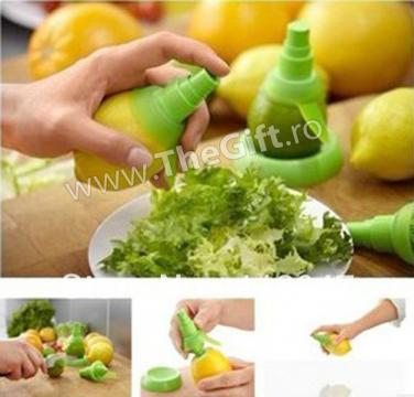 Storcator de citrice, cu spray pulverizator