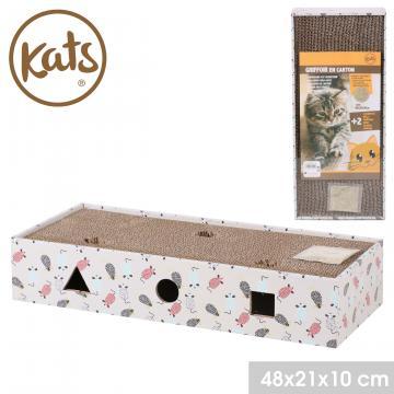 Suport pentru ascutire gheare pisici din carton ondulat de la Plasma Trade Srl (happymax.ro)