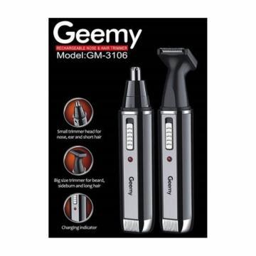 Trimmer nas si urechi 2in1 cu acumulator Geemy GM-3106 de la Www.oferteshop.ro - Cadouri Online