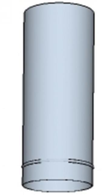 Tub rotund din otel inoxidabil 650 200mm de la Ventdepot Srl
