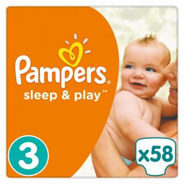 Scutece Pampers SleepPlay 6-10kg Midi 3 (58buc) de la Pepita.ro