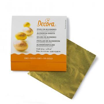 Foite aluminiu auriu pentru ambalat bomboane de la Cristian Food Industry Srl.