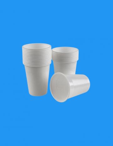 Pahar plastic alb 200cc 2,5g 100 buc/set de la Cristian Food Industry Srl.