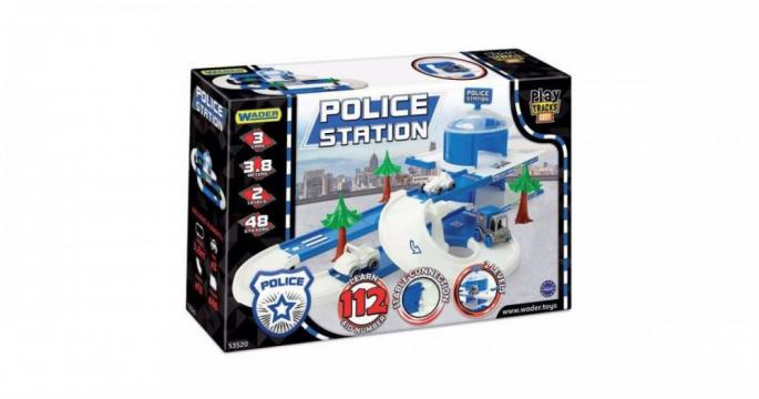 Jucarie Garaj pentru politie Wader Kid Cars 3D