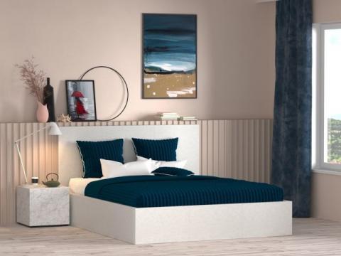 Pat 9001-G, alb 140 x 190 cm de la CB Furniture Srl