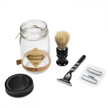 Cadou set accesorii barbierit la borcan de la Plasma Trade Srl (happymax.ro)