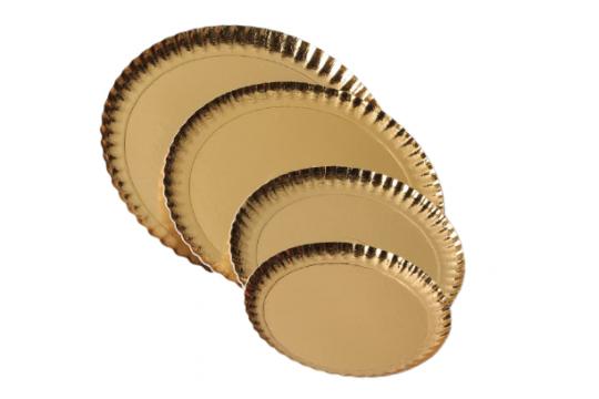 Farfurii groase carton auriu 13cm de la Cristian Food Industry Srl.